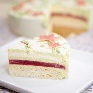 Торт «Малина и фисташка»