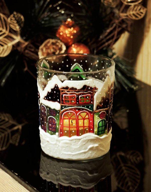 Новогодняя чашка - светильник